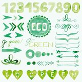 Dekoracyjni elementy Eco Obraz Royalty Free