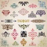 Dekoracyjni elementy i wzory w wektorze Fotografia Royalty Free
