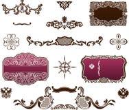 Dekoracyjni elementy - Królewski styl Zdjęcie Royalty Free