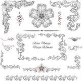 Dekoracyjni elementy - Retro rocznika styl Obrazy Stock