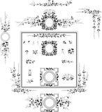 Dekoracyjni elementy - Retro rocznika styl Zdjęcia Royalty Free