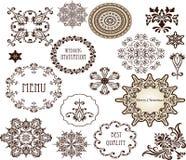 Dekoracyjni elementy - Retro rocznika styl Zdjęcia Stock
