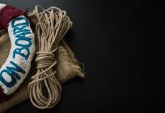 Dekoracyjni elementy w marynarka wojenna żołnierza piechoty morskiej stylu Fotografia Stock