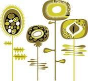 Dekoracyjni Grunge kwiaty royalty ilustracja
