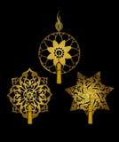 Dekoracyjni ornamenty z kitkami Obraz Royalty Free