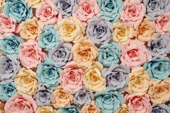 Dekoracyjni papierowi kwiaty zdjęcie stock