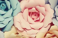 Dekoracyjni papierowi kwiaty obraz stock