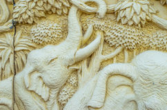 Dekoracyjni piaskowcowi słonie Obraz Royalty Free