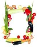 dekoracyjni ramowi warzywa Zdjęcie Royalty Free
