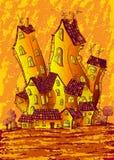 Dekoracyjni słoneczni domy Obraz Royalty Free