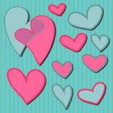 dekoracyjni serca Royalty Ilustracja