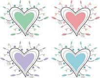 dekoracyjni serca ilustracji