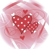 dekoracyjni serca Fotografia Stock