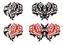 Dekoracyjni serca i motyle Obraz Stock
