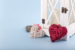Dekoracyjni valentine serca Obrazy Stock