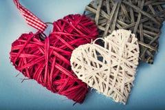 Dekoracyjni valentine serca Fotografia Royalty Free