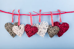 Dekoracyjni valentine serca Obraz Royalty Free