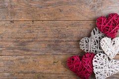 Dekoracyjni valentine serca Fotografia Stock