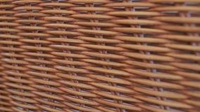 Dekoracyjny łozinowy meble od rattan zbliżenia, tekstura, tło zbiory
