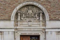 Dekoracyjny łuk nad główne wejście Taunton okręg administracyjny Hall Zdjęcie Royalty Free