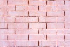 Dekoracyjny ścienny naśladowania światło - różowa cegła fotografia royalty free