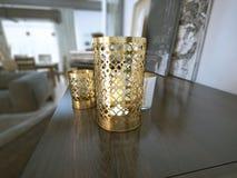 Dekoracyjny świeczka właściciel Zdjęcia Stock