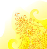 Dekoracyjny żółty sztandar royalty ilustracja