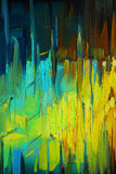 Dekoracyjny abstrakcjonistyczny obraz olejny na kanwie, ilustracja, backgr Zdjęcie Stock