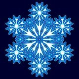 Dekoracyjny abstrakcjonistyczny płatek śniegu Zdjęcia Stock