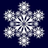 Dekoracyjny abstrakcjonistyczny płatek śniegu Fotografia Stock