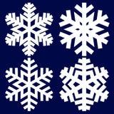 Dekoracyjny abstrakcjonistyczny płatek śniegu Obraz Royalty Free