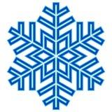 Dekoracyjny abstrakcjonistyczny płatek śniegu Obraz Stock