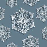 Dekoracyjny abstrakcjonistyczny płatek śniegu bezszwowy Obraz Stock