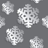 Dekoracyjny abstrakcjonistyczny płatek śniegu bezszwowy Obrazy Royalty Free