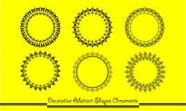 Dekoracyjny abstraktów kształtów ornament Fotografia Stock