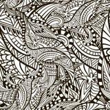 Dekoracyjny abstrakt obliczał wektorową bezszwową teksturę z liniami i doodles Ilustracji