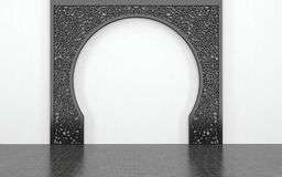Dekoracyjny Archway Przeciw Prostej biel ścianie Zdjęcie Royalty Free