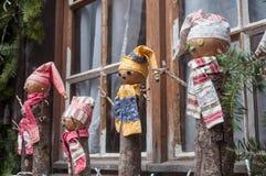 dekoracyjny bałwan dla boże narodzenie dekoraci przy wi Zdjęcia Stock