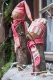 dekoracyjny bałwan dla boże narodzenie dekoraci przy wi Obraz Stock