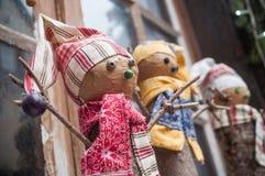 dekoracyjny bałwan dla boże narodzenie dekoraci przy wi Obraz Royalty Free