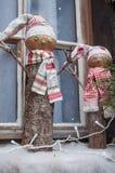 dekoracyjny bałwan dla boże narodzenie dekoraci przy wi Zdjęcia Royalty Free