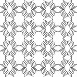 Dekoracyjny Bezszwowy Kwiecisty Geometryczny Czarny & Biały Deseniowy tło Zdjęcia Stock