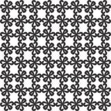 Dekoracyjny Bezszwowy Kwiecisty Geometryczny Czarny & Biały Deseniowy tło Zdjęcie Royalty Free