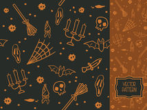 Dekoracyjny bezszwowy wzór dla Halloween Zdjęcie Stock