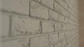Dekoracyjny biały ściana z cegieł, zakończenie zdjęcie wideo