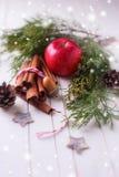 dekoracyjny Boże Narodzenie skład Obraz Stock