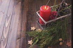 dekoracyjny Boże Narodzenie skład Obrazy Stock