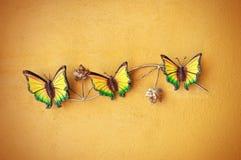 Dekoracyjny ceramiczny motyl obraz stock