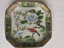Dekoracyjny ceramiczny naczynie w orientalnym stylu obrazy royalty free