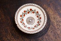 Dekoracyjny ceramiczny talerz obraz royalty free